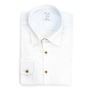 Sustainable Shirt White Fun – Breast pocket