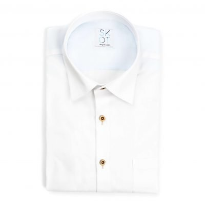 Sustainable Shirt White Fun - Chest pocket