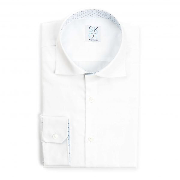 Sustainable Shirt Serious White Contrast