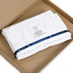 Sustainable T-shirt Deep V-neck 2 pack