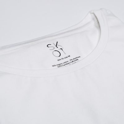 Sustainable T-shirt round neck White 2 pack