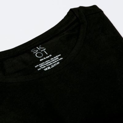 Sustainable T-shirt round neck Black 2-pack