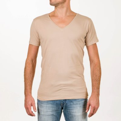 Sustainable T-shirt Deep V-neck Invisible 2 pack