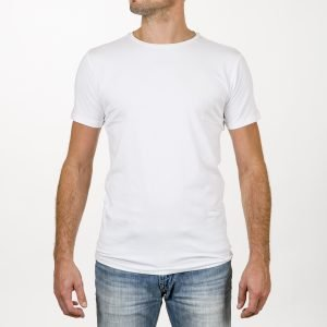 Duurzaam T-shirt ronde hals wit 2-pack