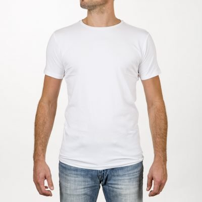 Duurzaam T-shirt ronde hals wit