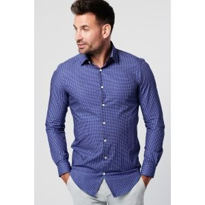Sustainable Shirt Skot Kobalt