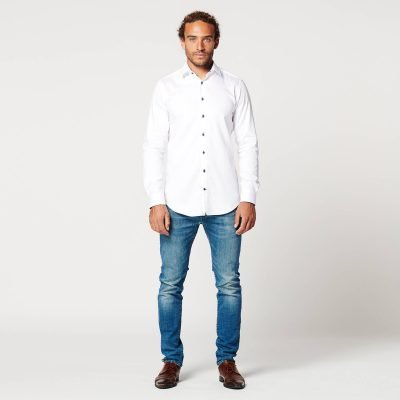 Sustainable Shirt Circular White Contrast