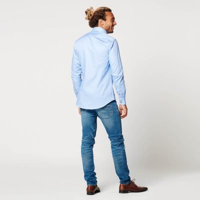 Sustainable Shirt Circular Blue Contrast