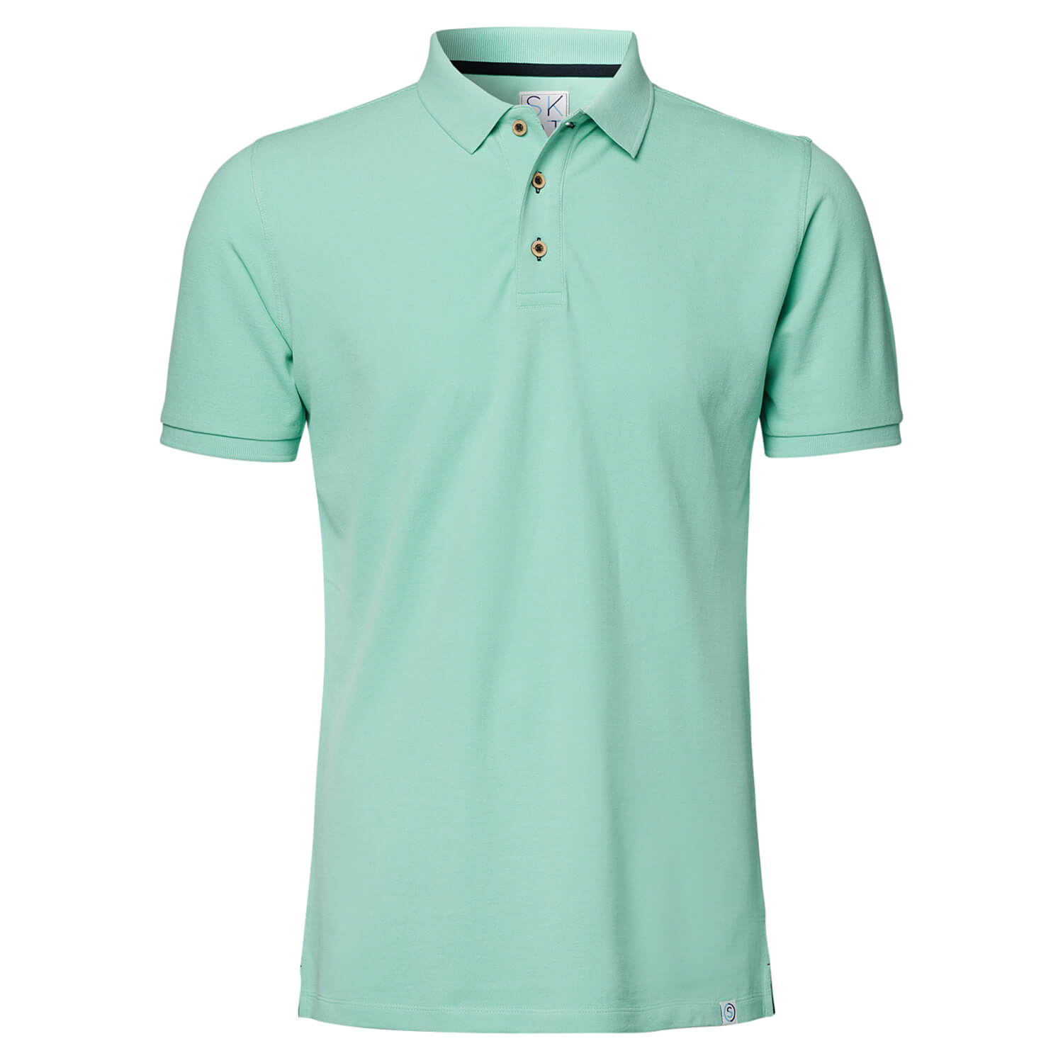 SKOT Fashion Sustainable Polo Green Sapphire - groen